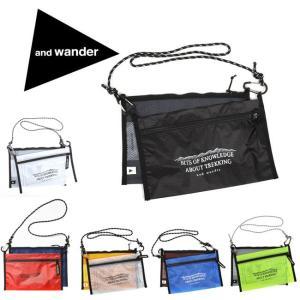 アンドワンダー and wander サコッシュ ショルダー 斜め掛け twin pouch set...