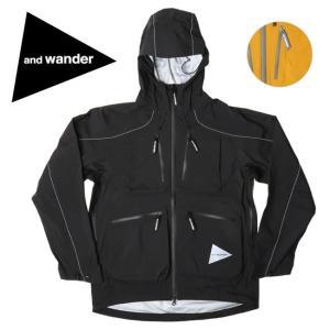 and wander アンドワンダー e vent dropping pocket rain jacket AW91-FT001 【アウトドア/ジャケット/アウター】 highball