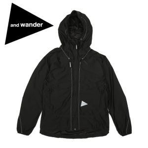 and wander アンドワンダー raschel rip jacket ラッセルリップジャケット AW93-JT056 【ジャケット/アウター/メンズ/アウトドア】 highball
