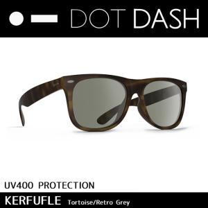 DOT DASH ドットダッシュ サングラス UVカット トイ サングラス KERFUFFLE Tortoise Retro Grey ae217d06-tor|highball