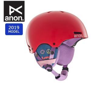 2019 anon アノン RIME GIRL POWER RED 13286104626 【ヘルメット/日本正規品/キッズ/ジュニア】|highball