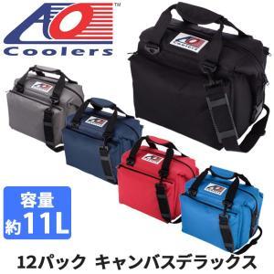 AO Coolers エーオー クーラーズ クーラーバック 12パックキャンバスデラックス AO12DXBK/CH/NB/RD/RB クーラーボックス 保冷バック アウトドア キャンプ|highball
