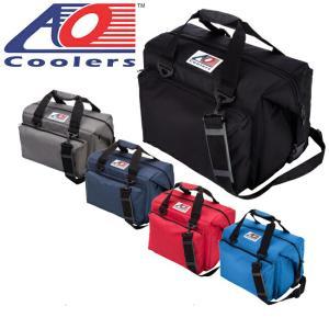 AO Coolers エーオー クーラーズ クーラーバック 24パックキャンバスデラックス AO24DXBK/CH/NB/RD/RB クーラーボックス 保冷バック アウトドア キャンプ|highball
