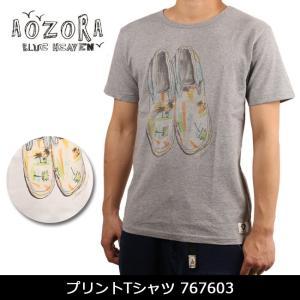 アオゾラ AOZORA プリントTシャツ 767603 【服】 Tシャツ アウトドア フェス【t-cnr】【メール便・代引不可】|highball