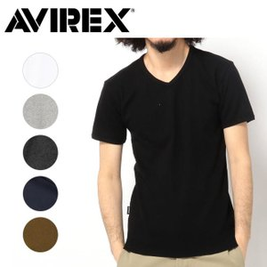 AVIREX アヴィレックス デイリー ショートスリーブ Vネック ティーシャツ DAILY S/S V-NECK T-SHIRT 6143501 【メール便・代引不可】|highball