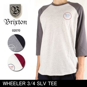 ブリクストン BRIXTON WHEELER 3/4 SLV TEE /02070 【服】 7分袖Tシャツ トップス|highball