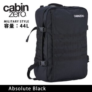 CABINZERO キャビンゼロ バックパック MILITARY STYLE 44L Absolute Black CZ091401|highball