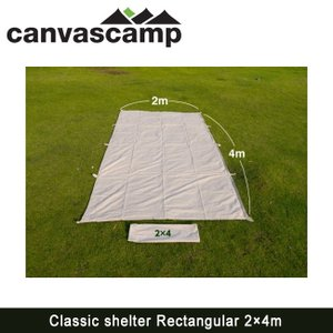 CanvasCamp キャンバスキャンプ  ナチュラルコットンタープ Classic shelter Rectangular 2×4m クラシックシェルターレクタンギュラー2×4m|highball