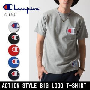 Champion/チャンピオン Tシャツ ACTION STYLE BIG LOGO T-SHIRT アクション スタイル ビッグロゴ Tシャツ C3-F362 【メール便・代引不可】|highball