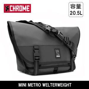 CHROME クローム MINI METRO WELTERWEIGHT(ミニ メトロウェルターウェイト) BG221 Charcoal/Black|highball