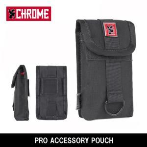 CHROME クローム PRO ACCESSORY POUCH(プロ アクセサリーポーチ) BG182 Black/Red 【カバン】 フォンポーチ スマートフォン バッグ装着|highball