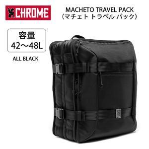 CHROME クローム バックパック MACHETO TRAVEL PACK(マチェト トラベル パック) ALL BLACK BG209 【カバン】リュック 通勤 通学 自転車|highball