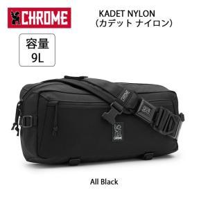 CHROME クローム メッセンジャーバッグ KADET NYLON(カデット ナイロン) All Black BG196 【カバン】ボディバッグ 通勤 通学 自転車|highball