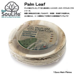 EcoSoulife/エコソウライフ 平皿/Palm Leaf 12pcs Main Plates /14881|highball