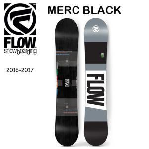 2017 FLOW フロー スノーボード MERC BLACK 【板】|highball