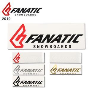 2019 FANATIC ファナティック STICKER FANATIC CI 20cm 【ステッカー/シール/スノーボード/日本正規品】|highball