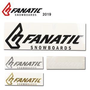 2019 FANATIC ファナティック STICKER FANATIC CI 30cm 【ステッカー/シール/スノーボード/日本正規品】|highball