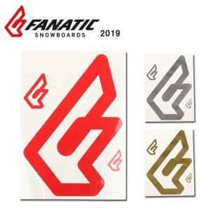 2019 FANATIC ファナティック STICKER F CI Logo set 【ステッカー/シール/スノーボード/日本正規品】|highball