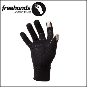 FREEHANDS/フリーハンズ グローブ POWER STRETCH 5 FING/BLK|highball
