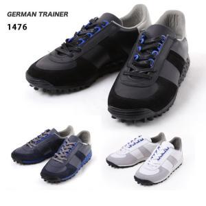 GERMAN TRAINER/ジャーマントレーナー スニーカー 1476 WHITE/NAVY/BLACK 送料込 highball