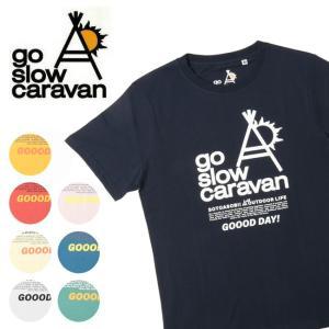 go slow caravan ゴースローキャラバン ブランドロゴTEE 311912 【Tシャツ/コットン/アウトドア/フェス】【メール便・代引不可】|highball