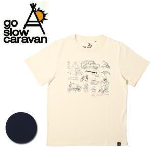 go slow caravan ゴースローキャラバン キャンププリント TEE 311927 【Tシャツ/イラスト/アウトドア/キャンプ】【メール便・代引不可】|highball