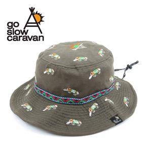 go slow caravan ゴースローキャラバン 刺繍キャンパーハット 312905 【帽子/ハット/キャンパーハット/アウトドア】|highball