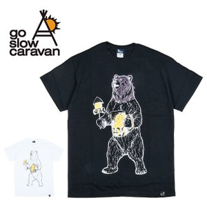 go slow caravan ゴースローキャラバン オーロラプリント SS TEE マスくまン 310252  【Tシャツ/コットン/アウトドア/フェス】【メール便・代引不可】|highball