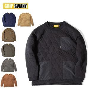 GRIP SWANY グリップスワニー CAMP POCKET QUILT CREW キャンプポケットキルトクルー GSC-31 【トップス/キルティング/スウェット/アウトドア】|highball