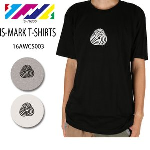 is-ness イズネス IS-MARK T-SHIRTS 16AWCS003 Tシャツ 半袖 ストリート 【服】【メール便・代引不可】|highball