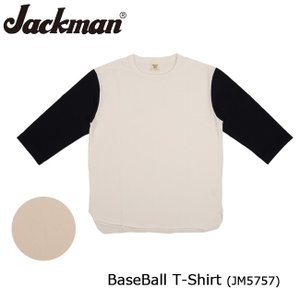 Jackman ジャックマン Tシャツ 七分袖 BaseBall T-Shirt JM5757 【服】メンズ カジュアル【メール便・代引不可】|highball