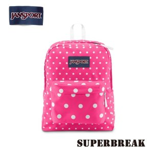 ジャンスポーツ jansport リュック スーパーブレイク SUPERBREAK FLUORESCENT PINK SPOTS T50101U jan15-033|highball