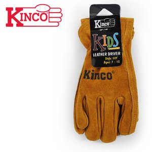 Kinco Gloves キンコグローブ COWHIDE DRIVERS GLOVE KIDS 50C / 50Y 【手袋/ワークグローブ/グローブ/革/キッズ/子供】|highball