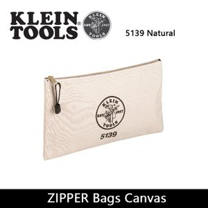 KLEIN TOOLS クラインツールズ ZIPPER Bags Canvas 5139 Natural 【カバン】ポーチ キャンバス【メール便・代引不可】|highball