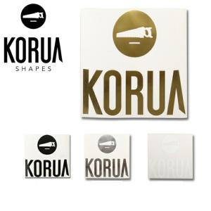 KORUA shapes コルアシェイプス ステッカー CI LOGO 【スノー雑貨】|highball