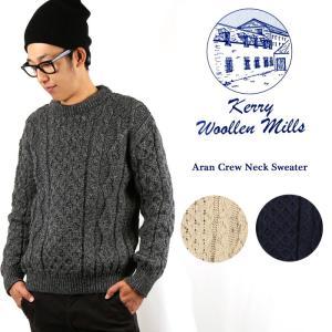 ケリーウーレンミルズ セーター Kerry Woollen Mills Aran Crew Neck Sweater クルーネック|highball