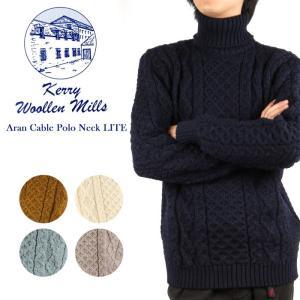 ケリーウーレンミルズ Kerry Woollen Mills セーター Aran Cable Polo Neck LITE 【服】ハイネック|highball