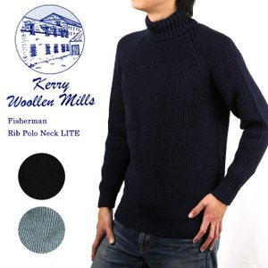 ケリーウーレンミルズ Kerry Woollen Mills セーター Fisherman Rib Polo Neck LITE KW024039 【服】ニット冬物 暖か ハイネック|highball
