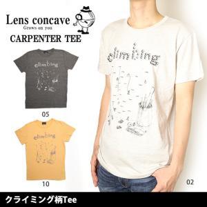 レンズコンケイブ Lens concave Tシャツ クライミング柄Tee L599424 【メール便・代引不可】|highball