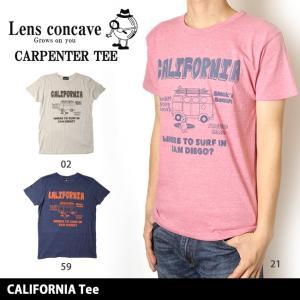 レンズコンケイブ Lens concave Tシャツ CALIFORNIA Tee L599432 【メール便・代引不可】|highball