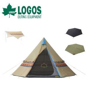 LOGOS ロゴス Tepee ナバホ400 マット+タープセット 71809554 お買い得 4点セット 簡単 【テント/タープ/防水マット/グランドシート/アウトドア/キャンプ】|highball