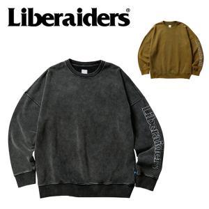 Liberaiders リベレイダース BLEACHED WASH CREWNECK SWEAT ブリーチドウォッシュクルーネックスウェット 723012103 【長袖/刺繍/トップス】 highball