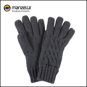 MANZELLA/マンツェラ グローブ CABLE KNIT GLOVE/CHARCOAL|highball