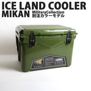 ICELANDCOOLER × MIKAN ミカン MIKAN × ICELANDCOOLER MilitaryCollection別注カラーモデル オリーブ 35QT|highball