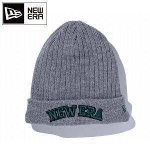 NEWERA ニューエラ ビーニー GOLF Cuff Knit Long Inner Fleece グレー杢 × ダークグレー 11166026 【メール便・代引不可】|highball
