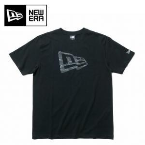NEWERA ニューエラ コットン Tシャツ タイガーストライプラインカモ フラッグロゴ ブラック 11901379 【Tシャツ/服/アウトドア】【メール便・代引不可】 highball
