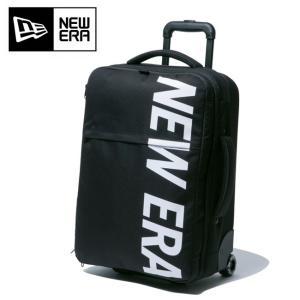 NEWERA ニューエラ WHEEL BAG 900D NEWERA BLK WHI ウィールバッグ プリントロゴ ブラック×ホワイト 11901461 【アウトドア/旅行/カバン】 highball
