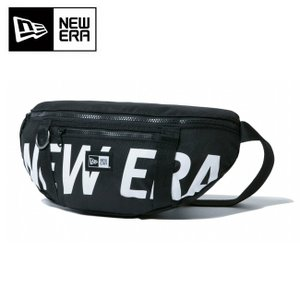 NEWERA ニューエラ WAIST BAG NEWERA BLK WHI ウェストバッグ プリントロゴ ブラック×ホワイト 11901462 【アウトドア/ボディバッグ/ウエストポーチ】 highball
