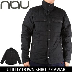 NAU / ナウ UTILITY DOWN SHIRT CAVIAR 【服】ジャケット ダウンジャケット アウター アウトドア メンズ|highball