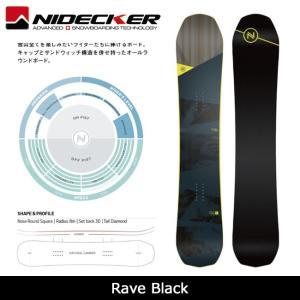 2018 NIDECKER ナイデッカー スノーボード Rave Black 【板】日本正規品|highball